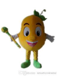 Meloni di costume online-SX0728 Immagine reale al 100%, un costume da mascotte arancione melone con grandi occhi da indossare per gli adulti