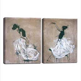 Wholesale Ballet Oil - Ballet Wall Art, 2 Pieces Canvas Art Ballet Wall Art Canvas Paintings Print on Canvas for Living Room Bedroom Wall Decorations No Frame