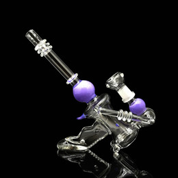 """Wholesale Function Shapes - New water bongs shaped """"gun"""" and decorated with color glass bong good shape and great function bongs"""