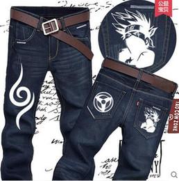 Wholesale Naruto Logo - Wholesale-Naruto logo pants kakashi jeans,premium quality