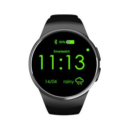 Wholesale Mobile Home Screens - KW18 smart watches intelligent mobile cell phone smartwatch bluetooth with heart rate SIM TF card round touch screen GPRS sports pedometer