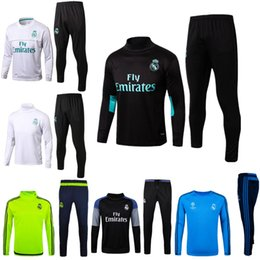 Wholesale Men S Track Suits - Hot 17 18 Real Madrid soccer Tracksuit RONALDO ASENSIO Track suits jacket 2017 2018 Real Madrid chandal training suits sports wear