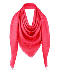 Cinza de seda on-line-Preto bege rosa cinza azul marrom tamanho vermelho 140 * 140 centímetros cachecóis wraps xales de lã de moda Moda Pashmina Com tag lable e recibo oficial 1