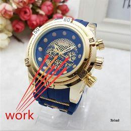 Wholesale Quartz Tungsten - Swiss brand INVICTA LOGO rotating dial outdoor sports Men's watch Luxury brand Silicone Multifunction luminous quartz watch+Ordinary box