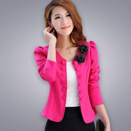 Wholesale Short Coat Female - New spring autumn women Jacket coat fashion Basic Jackets female blaser slim short suits women coats
