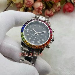Wholesale commercial color - Big diamond luxury brand men and women simulated sports watches showing the date of the quartz commercial women's watch