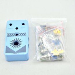 Wholesale Delay Guitar - DIY Delay-1 pedal Complete Kit With 1590B guitar stomp effects aluminium