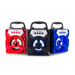 Wholesale Bt Light - MS-301BT Portable Wireless BT Speaker Loudspeaker FM Radio with LED Light TF Card Slot USB Port 3.5mm Audio Jack