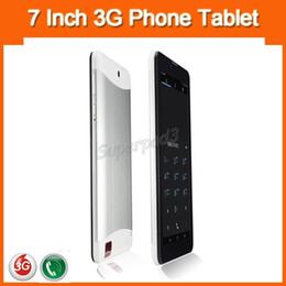 Дешевые телефоны для телефонов с сим-картами онлайн-7 дюймов HD Емкостный экран Android 3G фаблет дешевые мини таблетки телефонный звонок ПК MTK6572 Dual Core 4 ГБ ROM Dual SIM-карты слоты