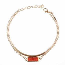Wholesale Druzy Bracelets - New Fashion Mutli-clolor Crystal Natural Stone Bracelet Bangles for Women Natural Druzy Stone Gold Plated Cuff Bracelets CXB023