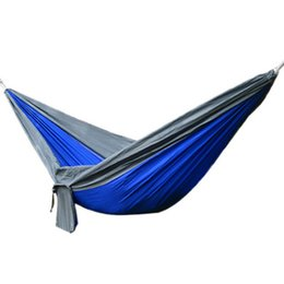 Wholesale Cars Camp - Outdoor Camping Traveling 2 People Leisure Parachute Hammock Portable Nylon Parachute Hammock 4 Colors Fashion 2503038