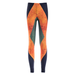 Wholesale Flag Print Leggings - Women Fashion Jamaica Flag Galaxy Leggings Black Diving Pants Printed Sky Space Stretchy Breathe Christmas Warm Jeggings Slim Tights