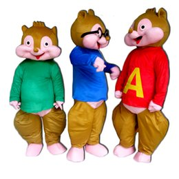 Wholesale Squirrel Mascot Adult Costume - 2016 squirrel elves chipmunk mascot cartoon clothing adult size EPE plush cloth custom clothing free shipping