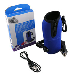 Wholesale Milk Heater - New Baby Milk Bottle Warmer Heater Sumurfs USB Milk Warmer Mini Linear Temperature Programme For Universal Car Charger Portable 2109024