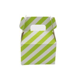 Wholesale Chevron Stripe Paper Bags - 12pcs Paper Candy Box stripe polka dot chevron gift bag Chocolate Packaging diy Children Birthday Party Wedding Decor Favors