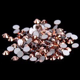Wholesale Glue For Crystal Nails - Rose Gold Non Hotfix Crystal Rhinestones For Nails Art Decoration SS3-SS10 Flatback Glue On Strass Stones DIY Crafts Garments