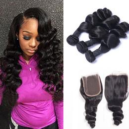 Wholesale Brazillian Loose Wave - Brazillian Loose Wave With Closure Cheap Human Hair Bundles With Closure Bundles With Closure Brazilian Loose Wave Virgin Hair