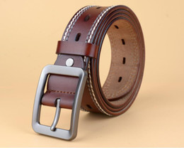 Wholesale Fancy Jeans - 2018 Belt Men Genuine Leather Luxury Strap Belts for Male Buckle Fancy Vintage Jeans Cintos Masculinos Ceinture Homme