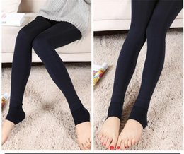 Wholesale Sexy Warm Leggings Tights Winter - Fall Winter Sexy Women Leggings Fur Thick Warm Fleece lined Fur Winter Lady's Black Tights Pencil Pants 8 Colors A020