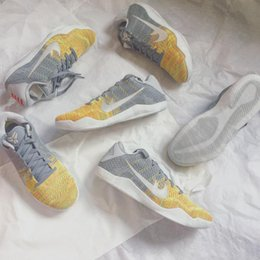 Wholesale Innovation Day - (With shoes Box) Bryant Kobe 11 XI low Master Of Innovation Cool Grey 822675-037 Men Basketball Sport Sneakers Shoes