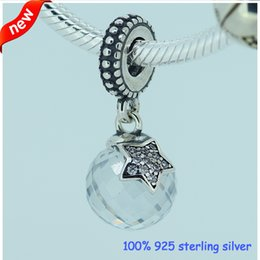 Wholesale Pandora Stars - Fits Pandora Bracelet Midnight Blue Moon and Star Silver Bead New Original Authentic 925 Sterling Silver Charms DIY Wholesale