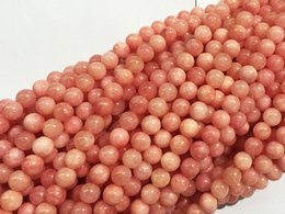 Wholesale Natural Rhodochrosite Beads - More choice dyeing Jade Beads Rhodochrosite colour 4-14mm Natural Stone Beads For DIY Fashion Necklace or Bracelet Free shipping