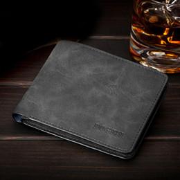 вертикальные держатели карт оптом Скидка Wholesale- Men Wallets Soft Leather Money Purse Fashion Man Change Purse Horizontal Vertical Wallets Carteira Card Holders