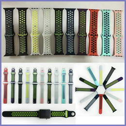 Wholesale Silicone Band Bracelet Watches - NK Hole Loops Strap Replacement Silicone Wrist Bracelet Sport Band Strap For Apple Watch Series 1 and Series 2 Strap 38 42mm VS Fitbit Strap