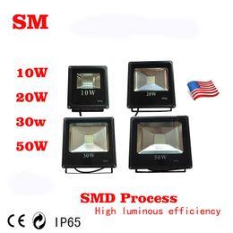 Wholesale High Powered Flood Lights - 2016 10W 20W 30W 50W SMD LED flood light Free shipping High lumens High Power Ip65 Waterproof LED Floodlight AC 85-265 V