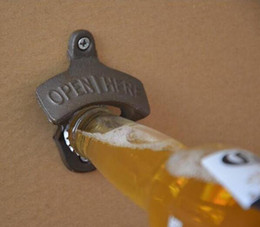 Wholesale Retro Bottle Opener - Wall-mounted opener beer bottle opener cast iron retro opener for kitchen factory direct sale 2016 New Fashion Opener