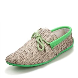 Wholesale Driving Mocassins - New 2016 hot men shoes summer breathable fashion weaving flat shoes casual men lace-up flats loafers driving mocassins