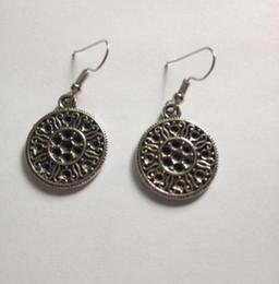Wholesale Filigree Dangle Earrings - 50 Pair Fashion Vintage Silver Medieval Filigree Drop Earrings Charms Pendants Dangle Chandelier Earrings For Women Jewelry DIY A067