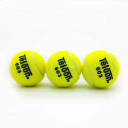 Wholesale Tennis Balls Brands - Wholesale- 603 Brand New High Resilience Tennis Ball Durable Trainning Exercise Practice Tennis Ball Fast Free Shipping 3PCS