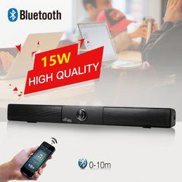 Receptor de sonido de tv online-SunnyLink Sound Bar Subwoofer inalámbrico 4.0 Altavoz Bluetooth 15W TV pequeña Barra de sonido Receptor Bluetooth Estéreo Super Bass