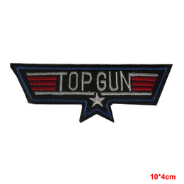 Wholesale military guns - new arrive military USA NAVY TOP GUN IRON-ON EMBROIDERED PATCH BADGE LOGO