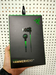 Wholesale Razer Hammerhead - top quality Razer Hammerhead Pro V2 earphone With Microphone With Retail Box In Ear Gaming headsets Noise Isolation Stereo Bass 3.5mm