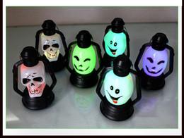 Wholesale Skeleton Table - Super bright Led Pumpkin Skeleton light Hallowmas christmas Party Decoration Prop Bedside Table Light Halloween Lamp