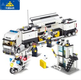 Wholesale Toy City Buildings - Police Station Building Blocks 511pcs Bricks Educational Toys Model Building Kits Compatible with lego City Truck Car Kids Toys
