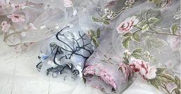 Wholesale Dress Fabric Textile - Wholesale 11 colour Chiffon organza fabric meter,textiles,Lace dress,,print satin fabric,floral fabric dress,Width140CM,B131