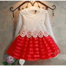 Wholesale Vintage Clothing For Children - Baby Kids children clothing Girl's lace Dresses 2017 Summer toddler newborn Flower girl vintage Ball gown princess tutu dress for girls #18