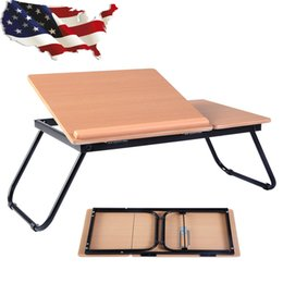 Wholesale Portable Stand Laptop - Portable Laptop Desk Notebook Computer Tray Folding Table Stand Sofa Bed New