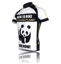 Wholesale Panda Cycling Top - New Panda Cycling Jersey Bike Short Sleeve Top Shirt Clothing Riding Jacket Bicycle Sportwear ciclismo Jersey S-4XL CC0107