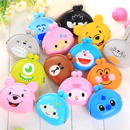 Wholesale Mini Silicone Purses - 55 Kinds Cartoon Silicone Coin Purses Cute Mini Coin Wallet, Fashion Students Key Wallets Candy Girls Money Bags for Women Stuff Sacks