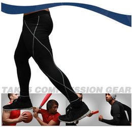 Wholesale Tight Cotton Mens Wholesale - Wholesale-New Brand Mens Sports Leggings Academia Fitness Quick Dry Pants Compression Wear Running Tights Fitness Trousers Yoga