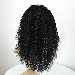 Wholesale Tangle Free Lace Wigs - In stock curly lace front wigs Brazilian Peruvian Malaysian human virgin remy hair wigs natural black baby hair tangle free