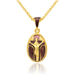 Pendentif oeuf en émail en Ligne-émail artisanal Religion Jesus Collier pendentif breloque Faberge Egg STYLE Pendentif pour le jour de Pâques