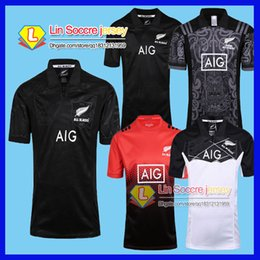 Wholesale Wales Rugby Shirt - New Zealand All Blacks Rugby Jersey Shirt 2015 2016 2017 Season Rugby Jersey New South Wales Blues State Shirt All Blacks Mens Rugby F