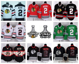 sport teams hockey Rabatt Chicago Blackhawks 2 Duncan Keith Hockey-Trikots Sport Winter Klassisch Team Farbe Rot Weiß Grün Schwarz Schädel Eis