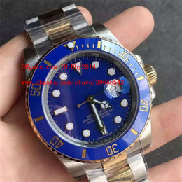Wholesale Ceramic Wrist - AAA Luxury brand 18k yellow gold strap 116613 Automatic mechanical wrist watches for men 40mm ceramic Fashion Blue dial Mens dive wristwatch