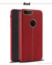 2019 stitch handy fällen Für Red iphone X 8 7 7 Plus Ledertasche Leder Nähte mit Metall-Ring RS TPU Schutz Handy-Fällen rabatt stitch handy fällen